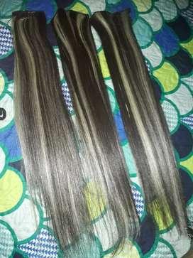 Vendo cabello semi sintetico de 3 capas interesadas llamar o escribir