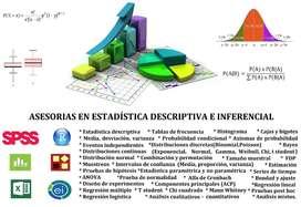 Clases de estadística, análisis SPSS, R R studio, Stata, Epiinfo,Stata.