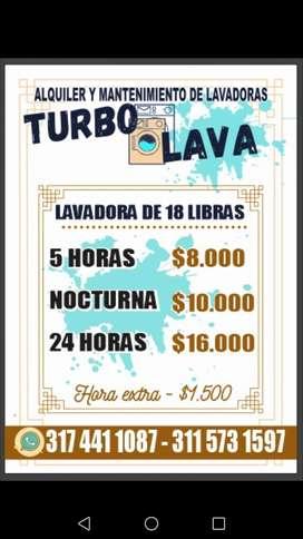 Alquiler de lavadoras TURBO LAVA