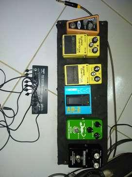 Vendo o cambio pedales de efectos para guitarra