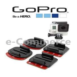 Soportes Gopro Curvos Planos Adhesivos 3M Originales Hero 2 3 3 4 Go Pro