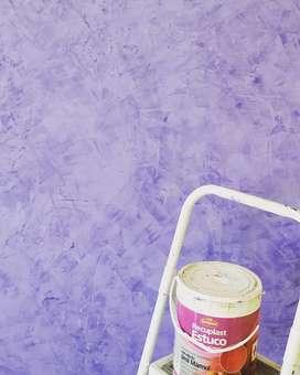 Trabajos de pintura. Estuco veneciano. Revestimientos texturados