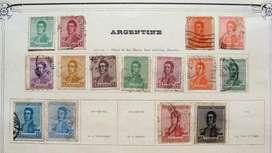 Sellos postales de Argentina años 1917 – 1923