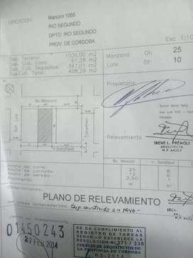 Importante sitio 1036 m2 centro Rio Segundo, Cordoba