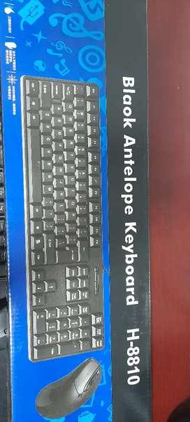 Combo alambrico USB teclado-mouse