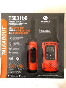 Radios Motorola T503 H2o Impermeables IP67. 56 Km. NUEVOS PROMO!!!
