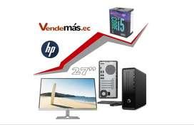 Computador Pc Hp Mini I5 9400 8gb 1tb Wifi Monitor 27 CPU