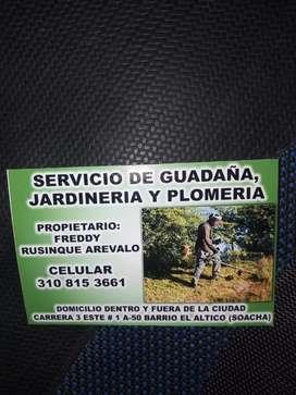 Servicio de guadaña jardineria y plomeria