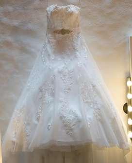 Hermoso vestido de novia Rosa Clara