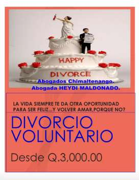 DIVORCIO VOLUNTARIO FACIL Y RÁPIDO.