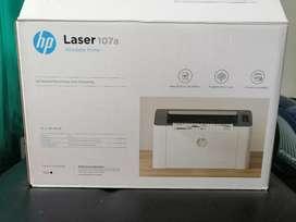 Laser 107a Impresión Tóner blanco y negro.