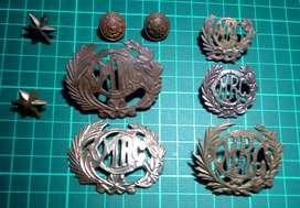 juego de emblemas bronce colegio militar Ramon Castilla mercp