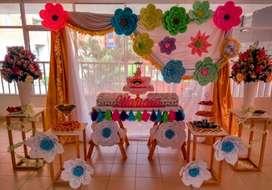 implementos para decoracion de fiestas en alquiler