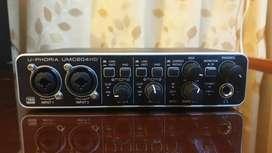Microfono condesador Samson CO1 - Interfaz de audio Behringer Uphoria UMC204HD