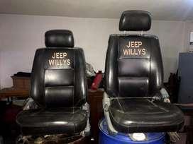 Vendo dos asientos reclinables y rieles