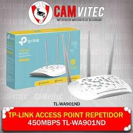 TP-Link Access Point Repetidor 450mbps TL-WA901ND CAMVITEC segunda mano  Perú