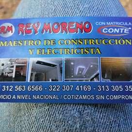 Servicios de técnico eléctricista y maestro de construcción