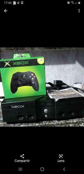 xbox clasica un control nuevo 30 juegos incorporados