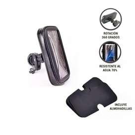 Soporte para celular o gps ideal para motos y carros. Con forro impermeable
