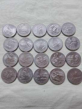 Monedas 25 centavo Parque Nacionales De EE.UU.