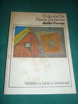 EL DOCTOR OX . MAESE ZACHARIUS . JULIO VERNE . LIBRO BIBLIOTECA BASICA