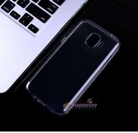 Funda TPU Silicona Ref Transp Cristal o Negra  p Samsung J4 J4 Plus