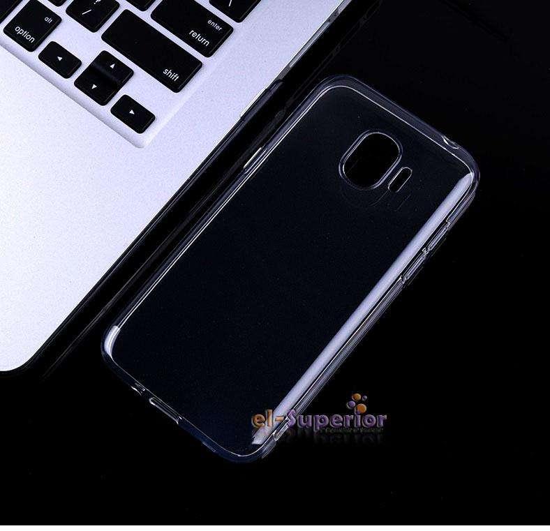 Funda TPU Silicona Ref Transp Cristal o Negra  p Samsung J4 J4 Plus 0