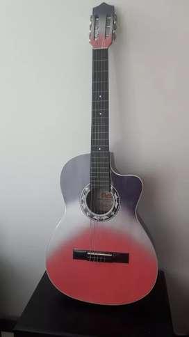 Guitarra con estuche