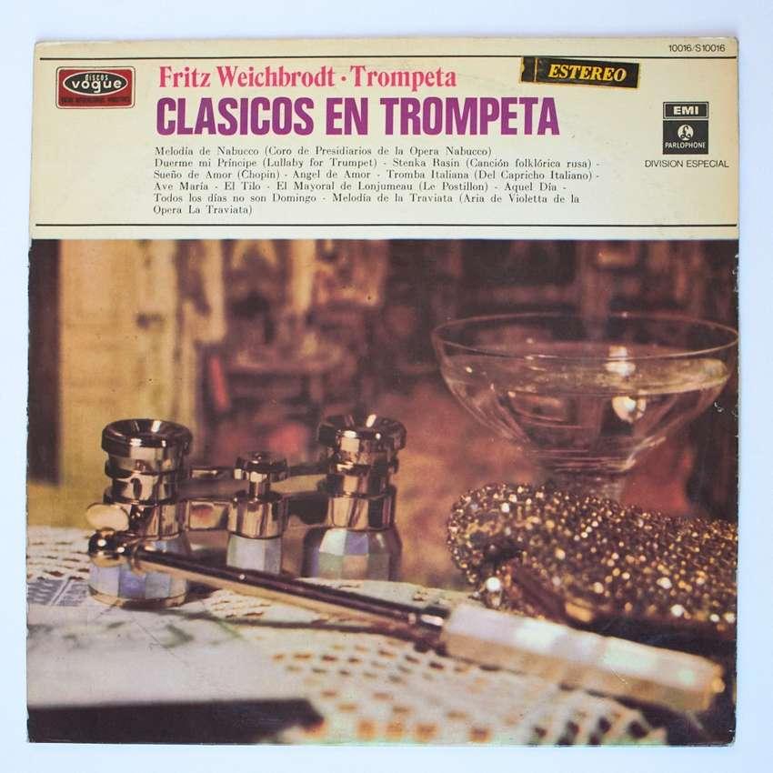 Clasicos en trompeta Fritz Weichbrodt Musica classica LP Vinilo 0