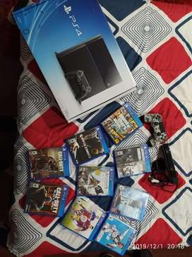 Playstation4+2controles+camara+9juegos