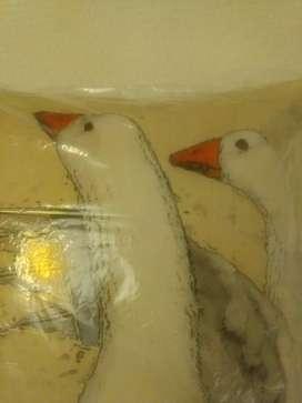 Almohadones de Plumas de Patos originales.