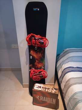 Tabla de snowboard Burton con fijaciones Nitro