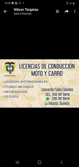 LICENCIAS DE CONDUCCION A2 B1.C1
