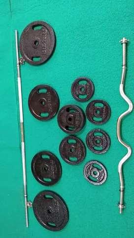 Kit de entrenamiento pesas discos