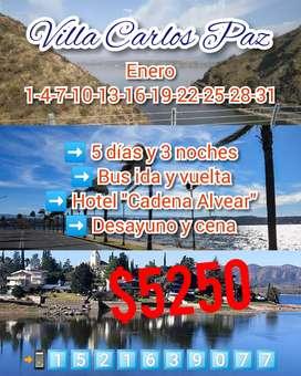 Vacaciones de verano en Carlos Paz