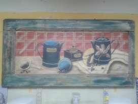 CUADRO EN OLEO TEMA CAFFE