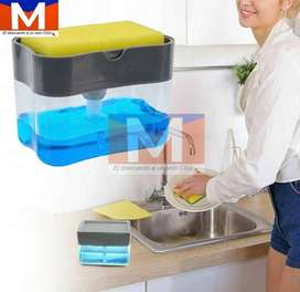 Dispensador De Jabon Liquido Esponja Lava Platos