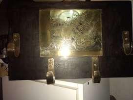 Perchero antiguo en Madera y Bronce