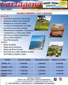 TOUR CARTAGENA SALIDAS FEBRERO