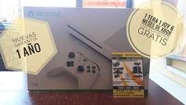 Xbox one S 1 tera 1 joy garantia 1 año 6 meses xbox live y gamepass gratis