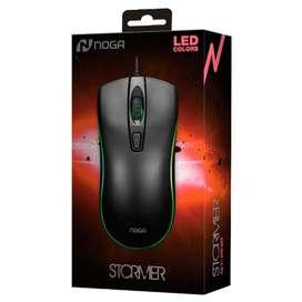 Mouse Gamer Pc Usb Retroiluminado Led Multicolor Noga St-202