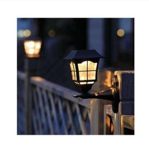 Farol Pared Luz Solar Led Para Exteriores Jardín Impermeable
