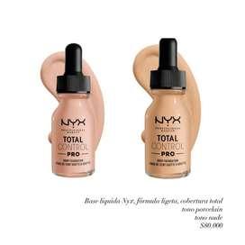 Maquillaje original. NYX, Covergirl,Elf