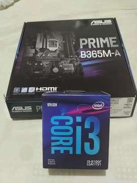 En venta Board Asus Prime B365M-A para 9na generación Procesador Intel Core i3 9100F.