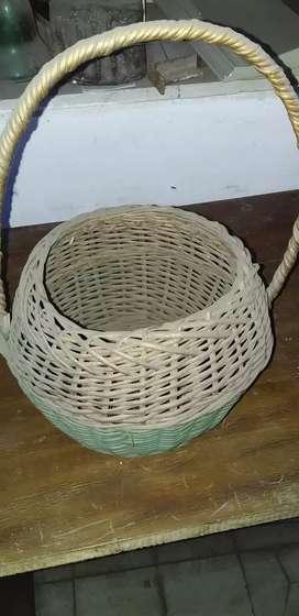 Antigua cesta mimbre