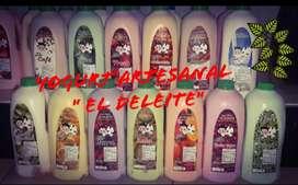"""Delicioso yogurt """"EL DELEITE"""" doce ricos sabores para q escojas"""