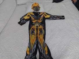 Disfraz de transformers bumblebee niño 6-7 años