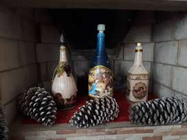 Botellas Decorativas hechas a mano