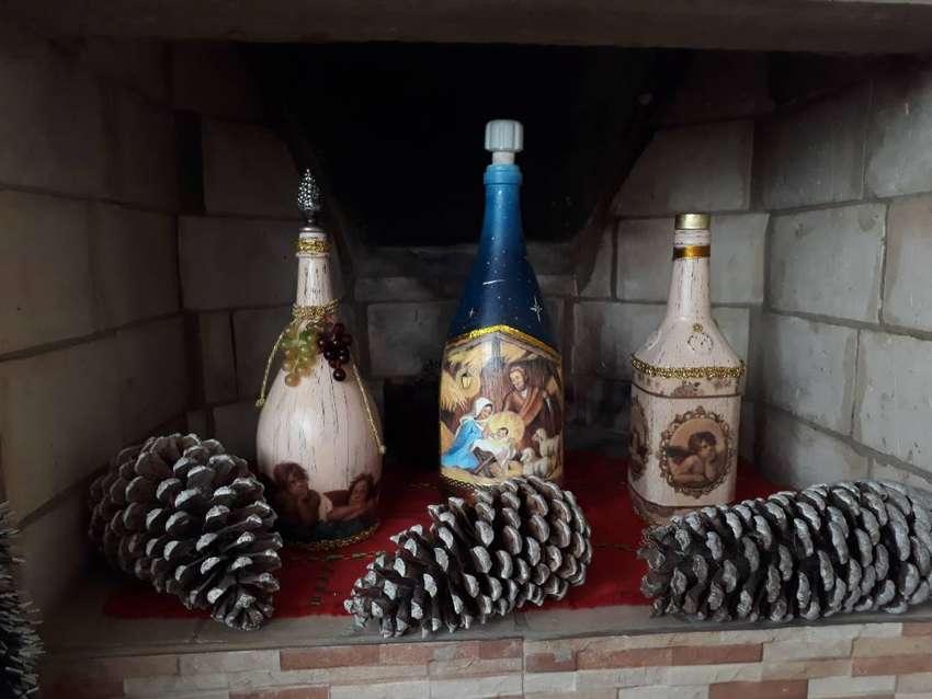 Botellas Decorativas hechas a mano 0