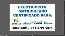 Electricista matriculado cap y provincia